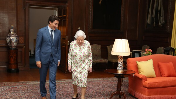 Justin Trudeau, Isabel II