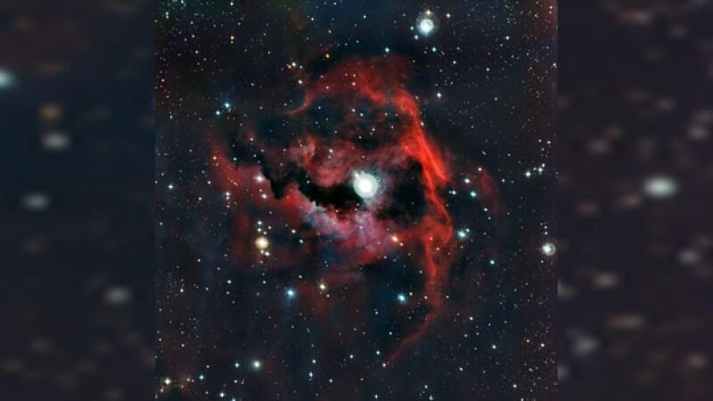 imagen de la nebulosa la gaviota