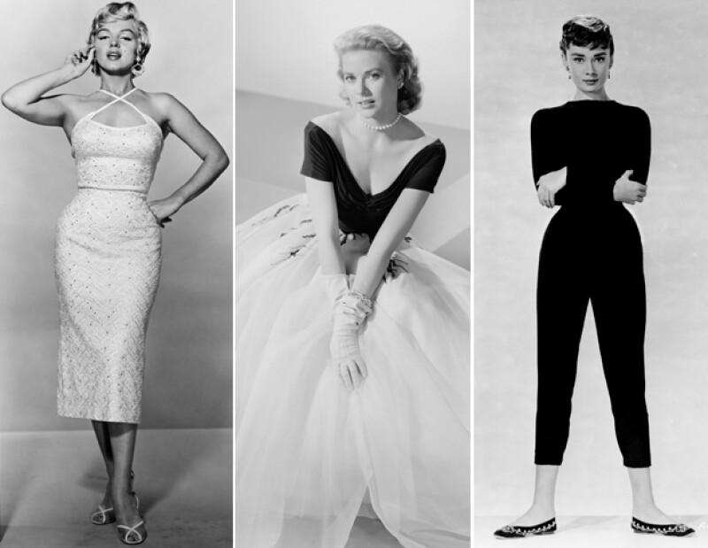 Marilyn Monroe, Grace Kelly y Audrey Hepburn representaron la moda de los 50. Hoy en día todavía usamos mucho de lo que ellas usaban.