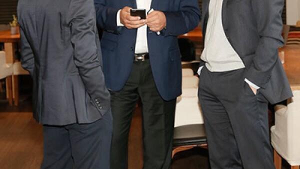 Roberto Kichik,Emilio Kichik y Rafael Dharcourt