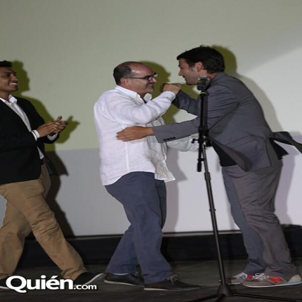 Tenoch Huerta, Ramiro Ruiz y Diego Luna