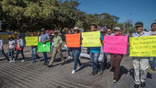 Protestas de maestros