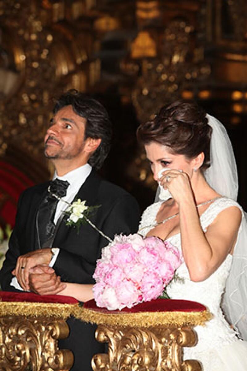 Eugenio y Alessandra se casaron el 7 de julio de 2012.