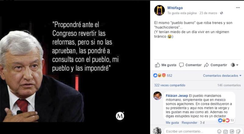 López Obrador nunca dijo que propondrá revertir las reformas y si no se aprueba la sometería a consulta popular.