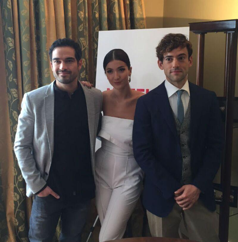 Los elegantes Poncho, Eréndira y Luis Gerardo.