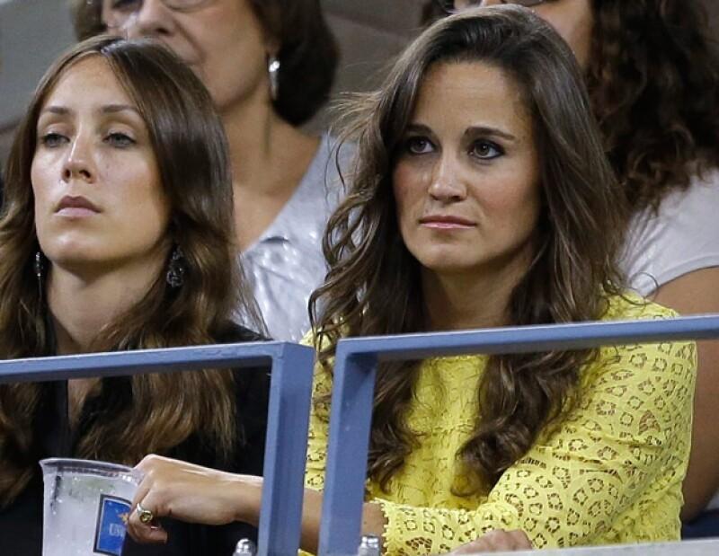 La hermana de la Duquesa celebró sus 29 años de edad disfrutando del tenis, sólo que en esta ocasión acudió al partido de Andy Murray usando un vestido amarillo.