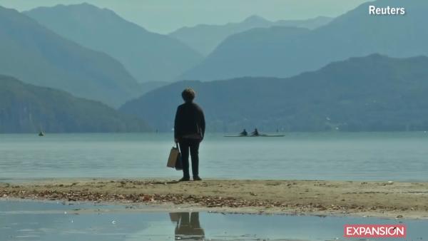 El nivel del lago de los Alpes franceses alcanzó un mínimo histórico