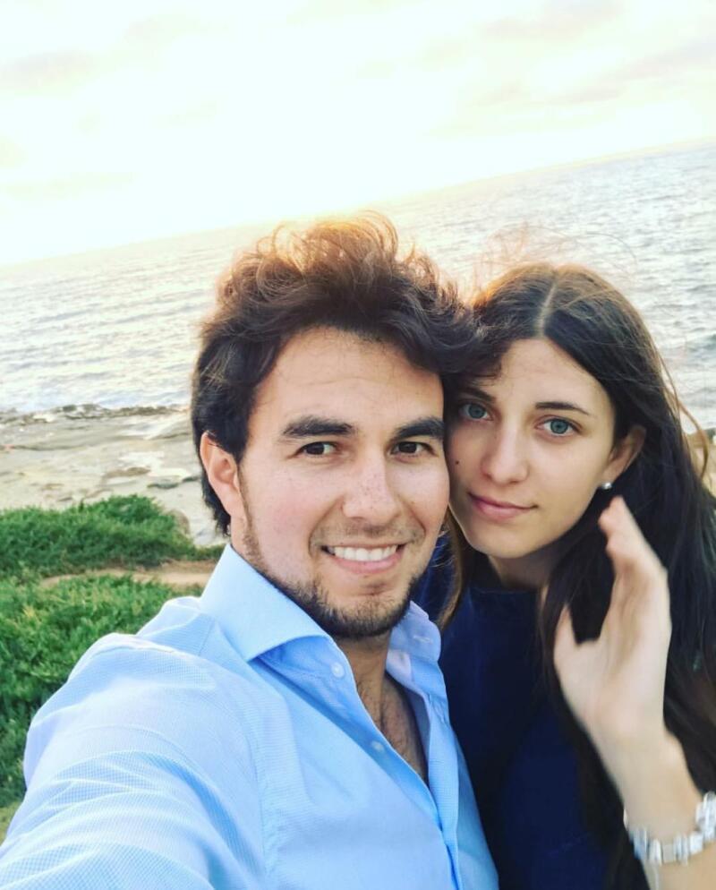Sergio 'Checo' Péreez llega al altar de la mano de Carola Martínez