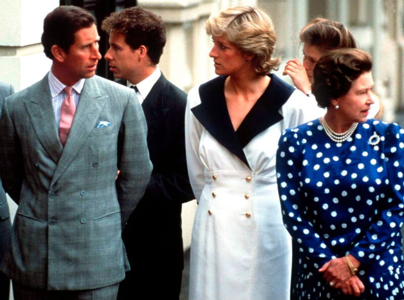 Charles Diana And Queen
