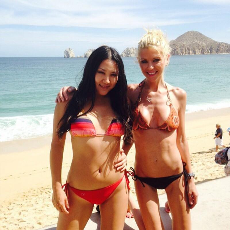 La actriz aparece en una nueva fotografía en bikini, haciendo notar su cada vez más diminuta y escandalosa silueta.