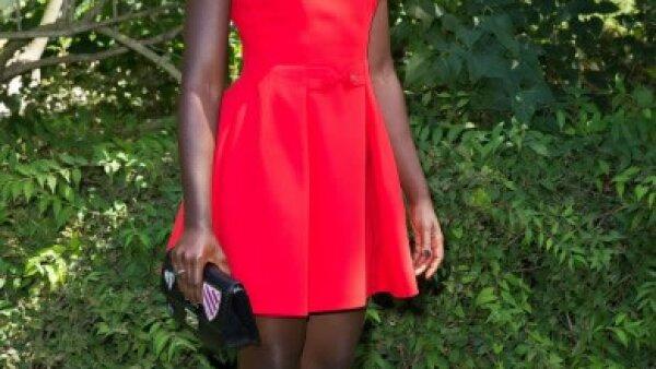 Lupita Nyongo en el desfile más reciente de Alta Costura de Christian Dior.
