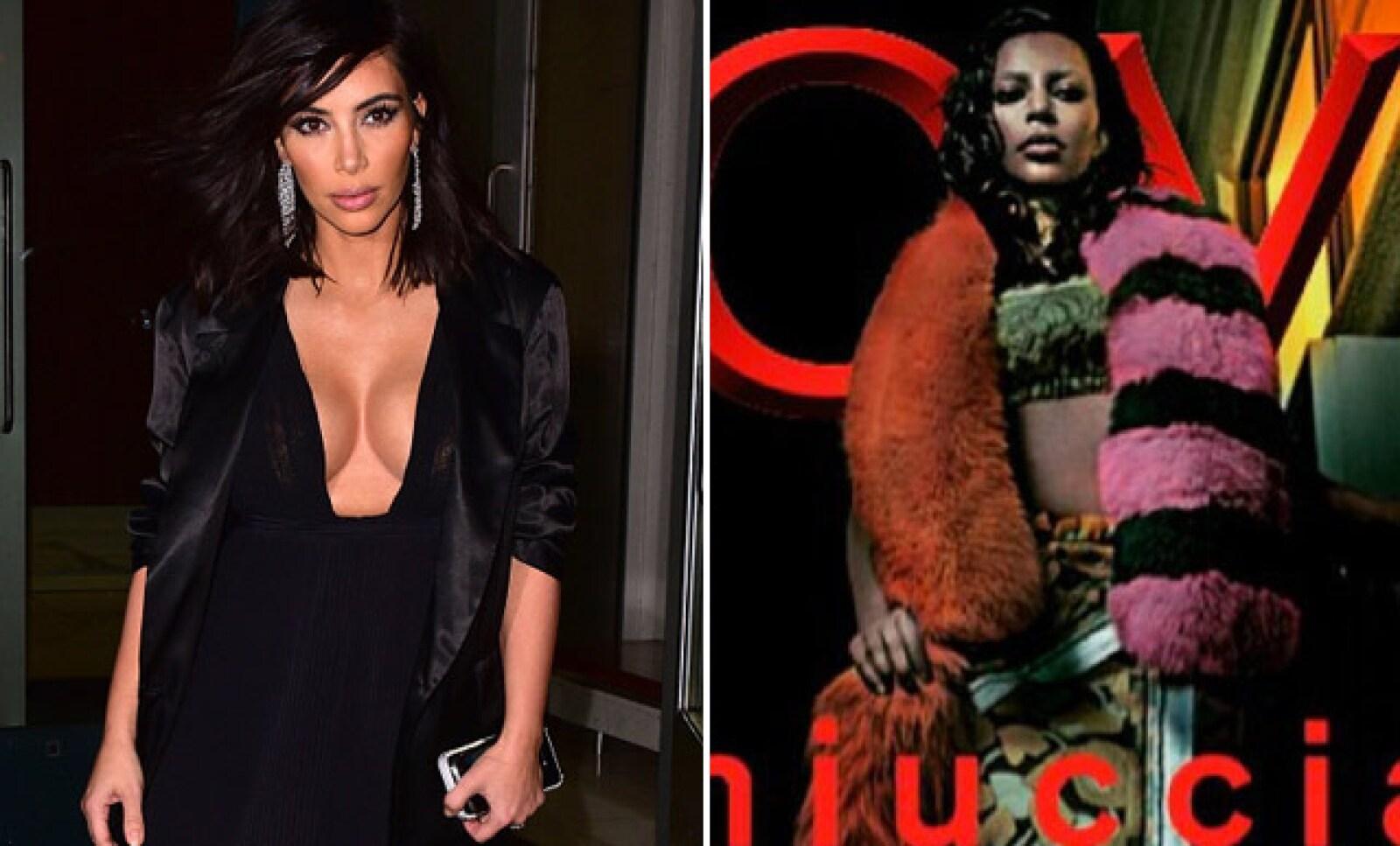 Kim Kardashian se convirtió en una persona diferente para la revista Love.