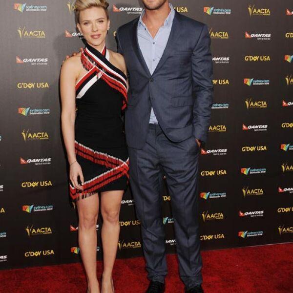 Tanto Scarlett como Chris fueron unos de los personajes más sensuales de la noche.