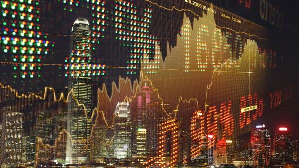 Stock market data growth chart graph investment finance analysis fintech financial district