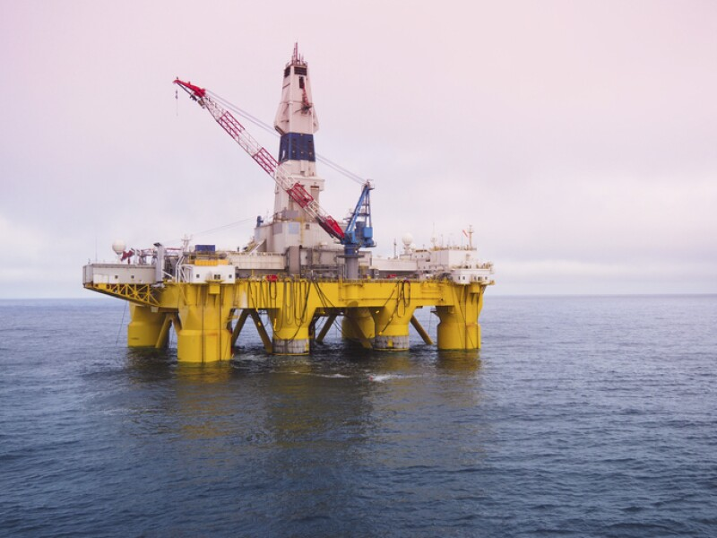 offshore drilling platform in Gulf of Mexico, petroleum industry