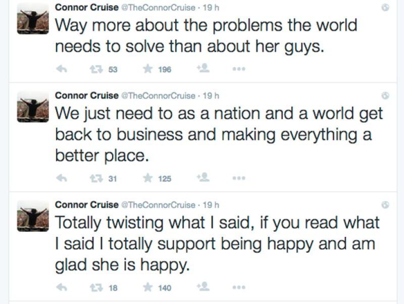 Algunos de los tuits del DJ, en los que después él explicó, eran para hacer conciencia a sus seguidores sobre los problemas que aquejan al mundo.