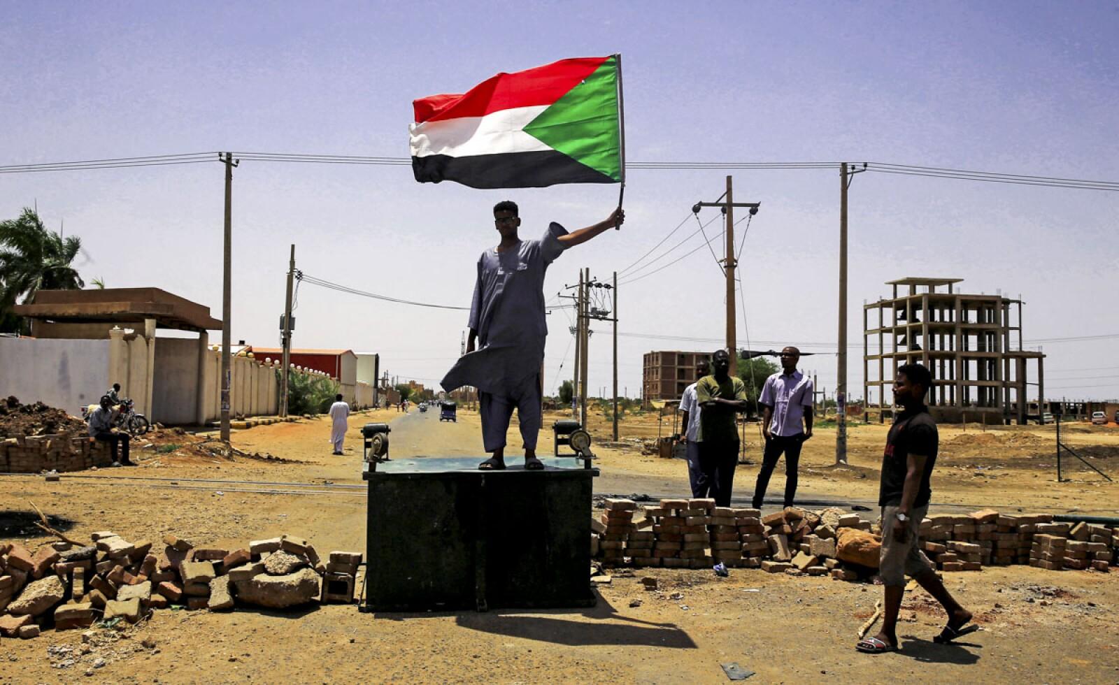Manifestante Sudanés