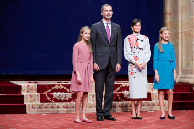 Princesa Leonor, rey Felipe VI, reina Letizia y la infanta Sofía.