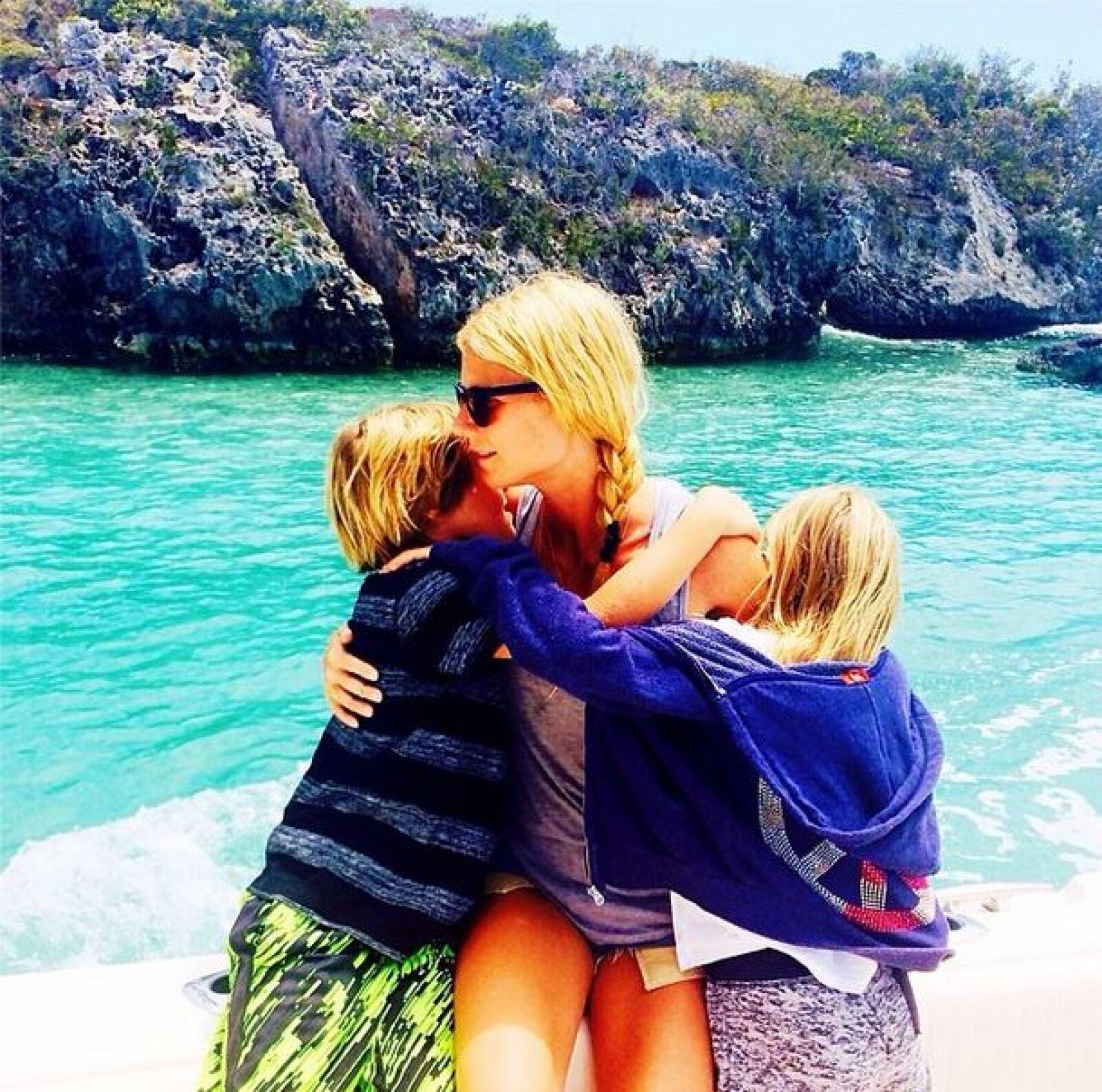 Gwyneth Paltrow está disfrutando a sus hijos tras su separación de Chris Martin.