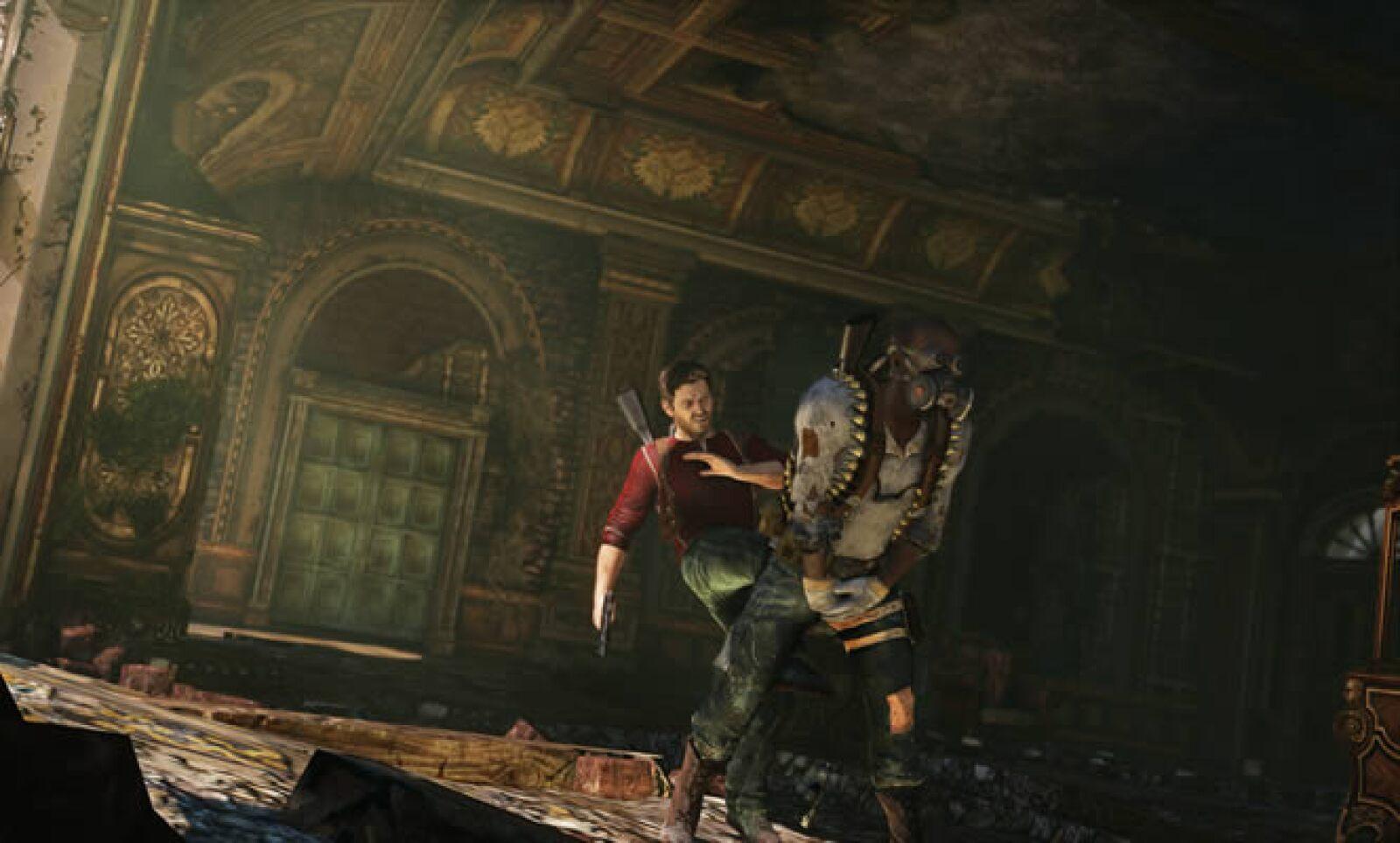 Nathan Drake, el Indiana Jones moderno regresa en esta tercera entrega, en la que tendrá que demostrar sus habilidades físicas mientras se enfrenta a múltiples enemigos.