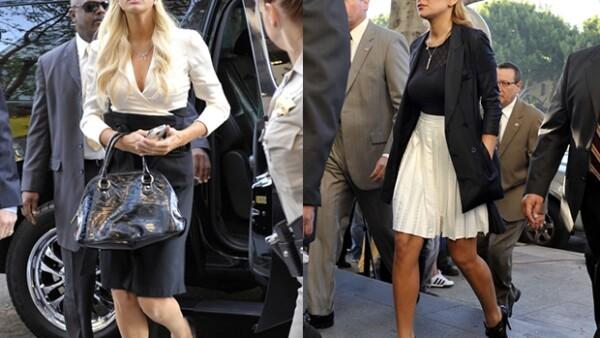 ¿Qué ropa eligieron Paris Hilton y Lindsay Lohan para presentarse ante la justicia? Curiosamente, outfits muy similares no muy parecidos a lo sexy y atrevido que ellas suelen elegir.