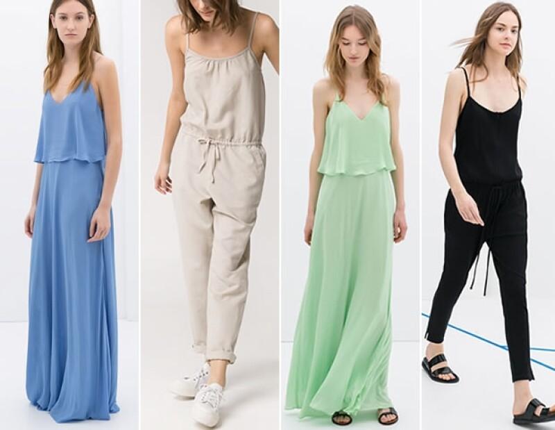 Tiendas como Mango y Zara, incluso tienen modelos similares y sólo varían en colores.