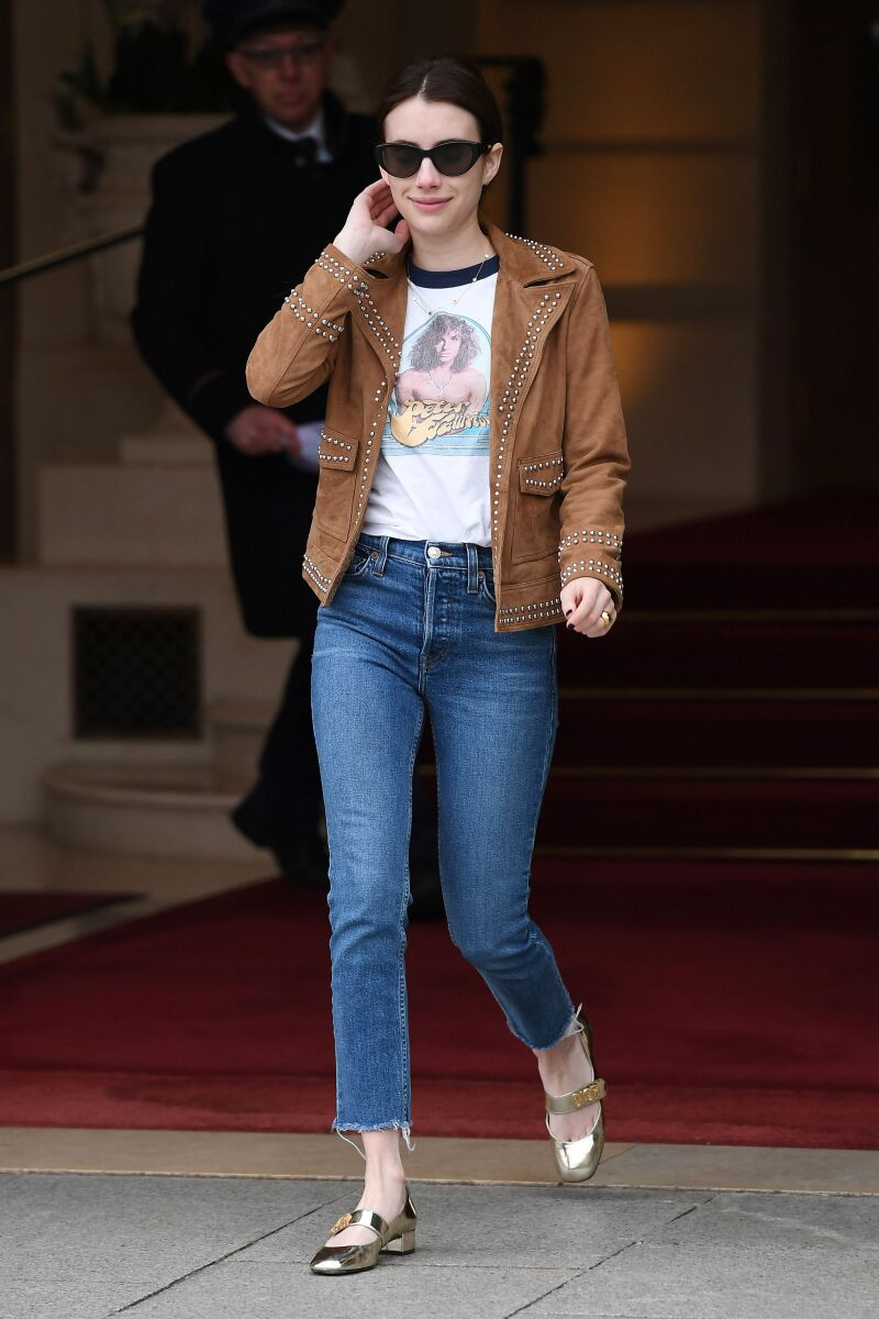Emma Roberts out and about, Paris Fashion Week, France - 06 Mar 2019