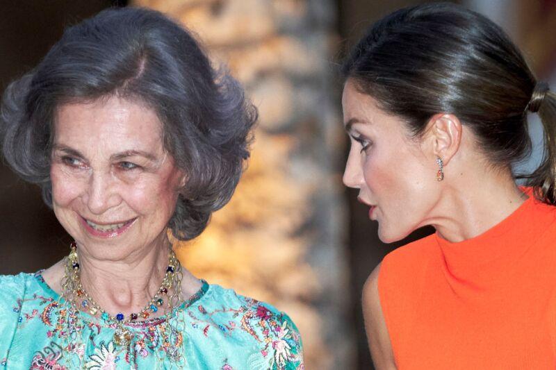 Reina Sofía y Letizia