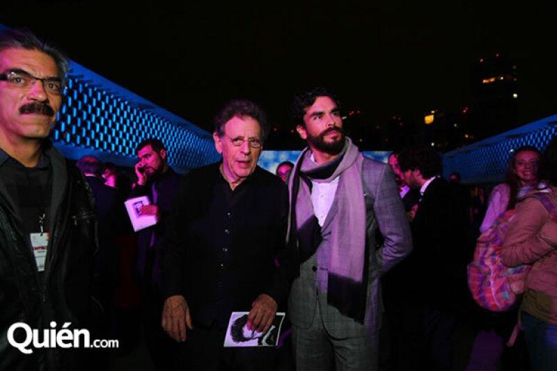 Philip Glass y Gonzalo García Vivanco.