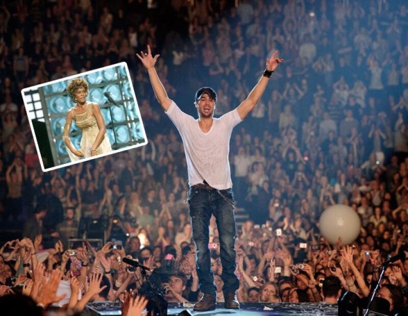 El español, quien colaboró con Whitney en el tema `Could I Have This Kiss Forever´, lamentó lo trágico de su muerte; inició su gira 2012, en Veracruz.