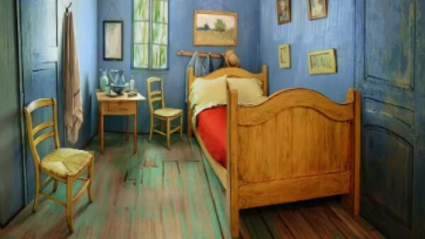 Este espacio forma parte de la exhibición 'Van Gogh's Bedrooms' en el Instituto de Arte de Chicago. (Foto: Airbnb )