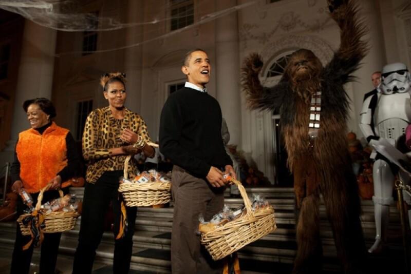 El presidente deseó a todos sus seguidores un feliz Halloween con esta imagen.