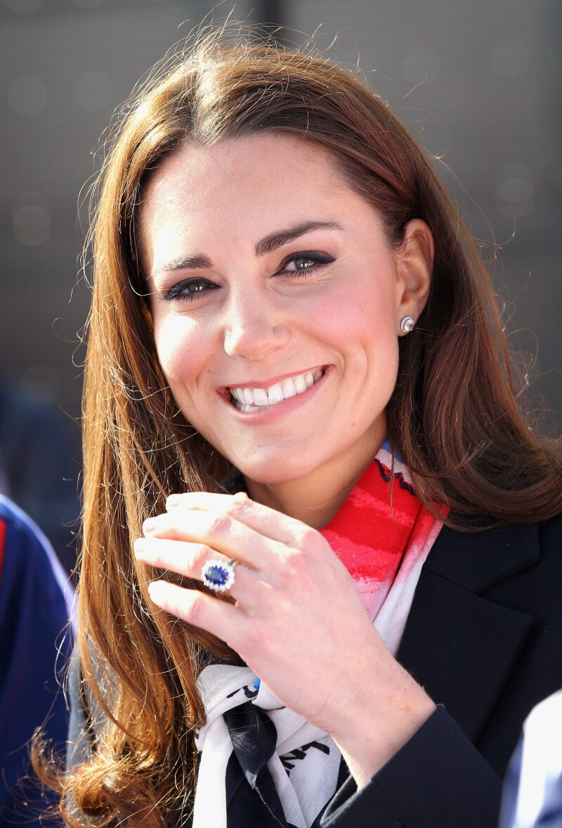 Anillo de compromiso de Lady Di en Kate Middleton