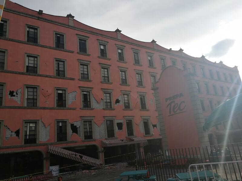 El edificio de Prepa Tec.