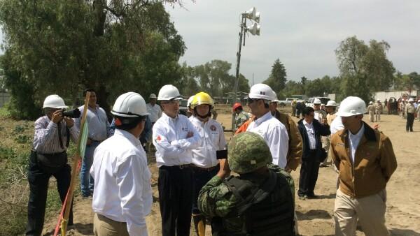 El director de Pemex José Antonio González Anaya intervino para poder controlar el incendio en un ducto en Quecholac. 16 de marzo.