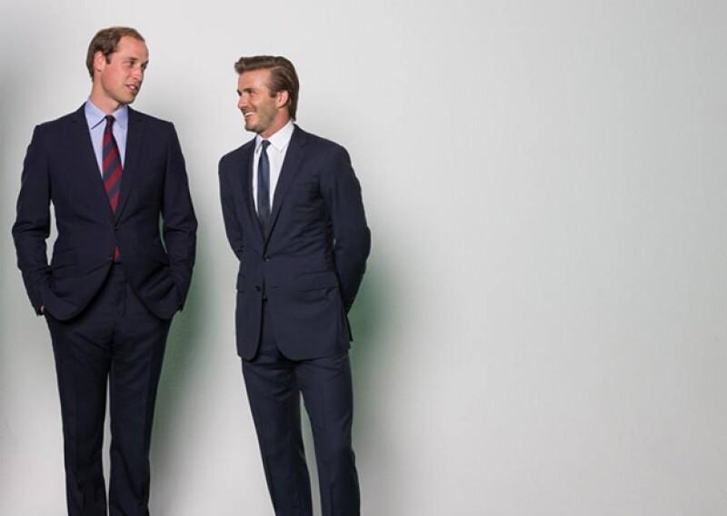 El Príncipe Guillermo y David Beckham mostraron su lado más social en esta campaña contra la caza de rinocerontes.