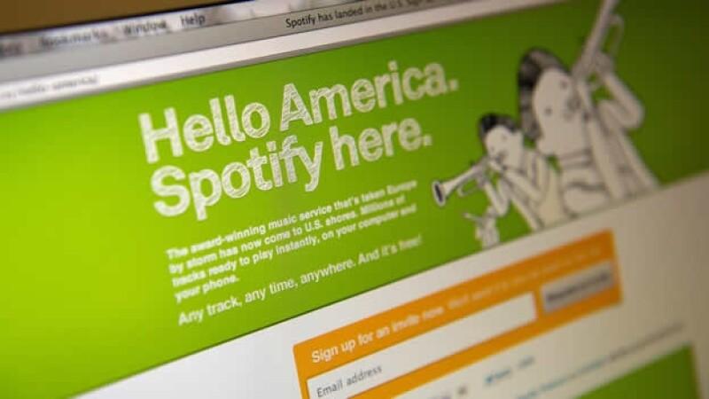 imagen del sitio de spotify