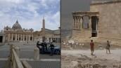 Reabren la basílica de San Pedro en Roma y la Acrópolis de Atenas
