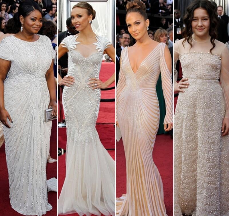 Tal como sucedió en los Golden Globes, estas tonalidades acapararon la alfombra roja.