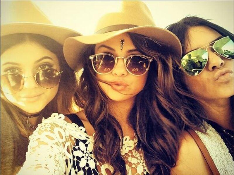 Kylie Jenner, Selena Gomez, Kendall Jenner.