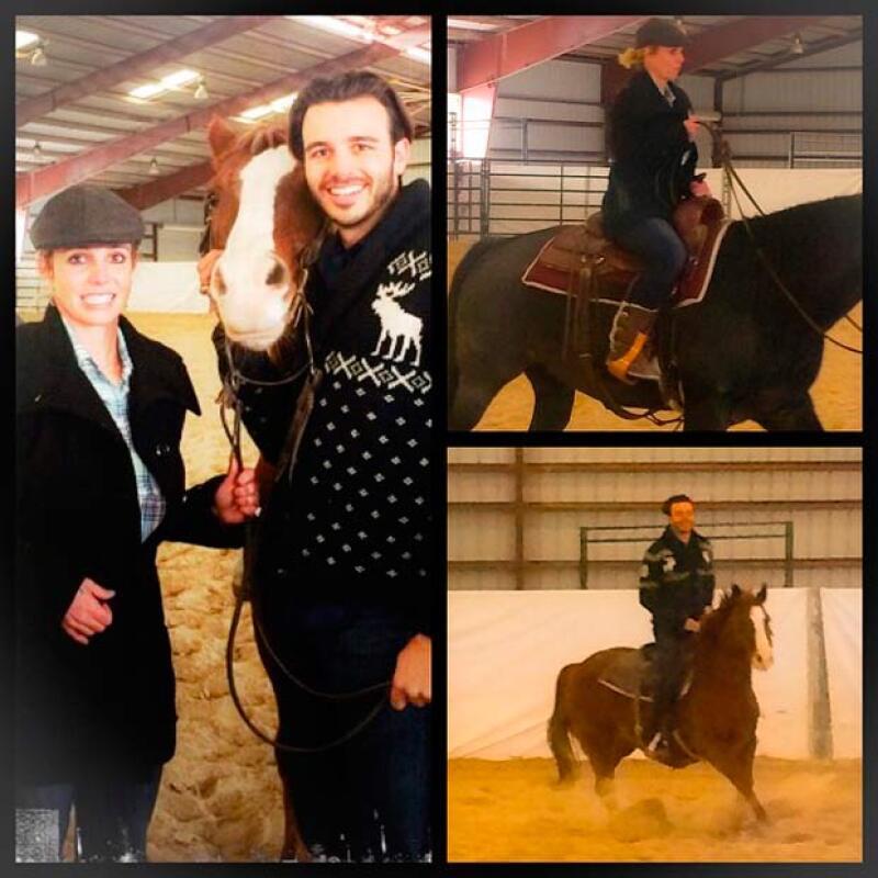 Hace unos días fue el cumpleaños de Charlie y Britney se lo festejó con un poco de equitación.