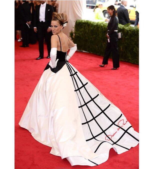 El vestido que eligió Sarah Jessica Parker en la gala del Met fue uno de los más comentados.