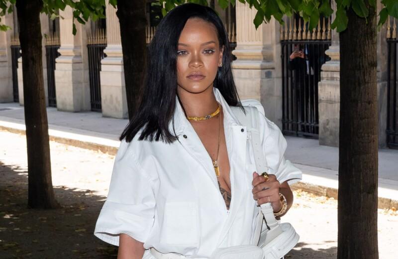 Paris Fashion Week: Rihanna arrive at the Louis Vuitton Menswear Spring/Summer 2019 Show