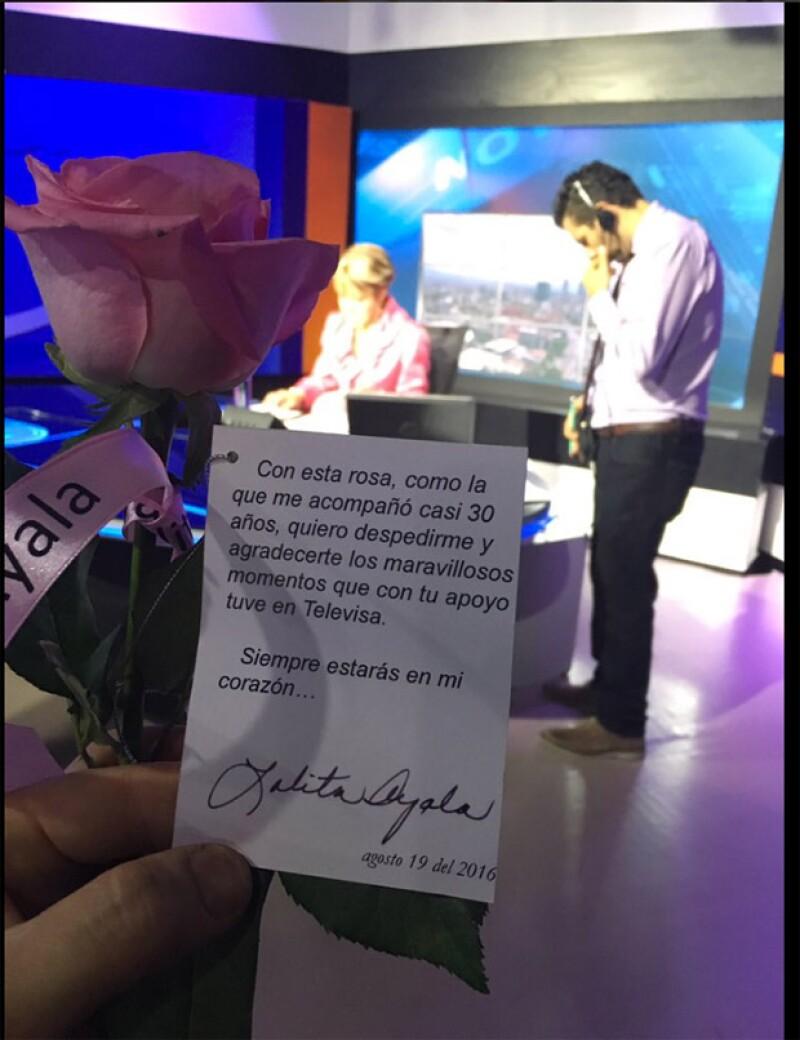 Lolita utilizó más de 7 mil rosas durante los años que estuvo al aire.