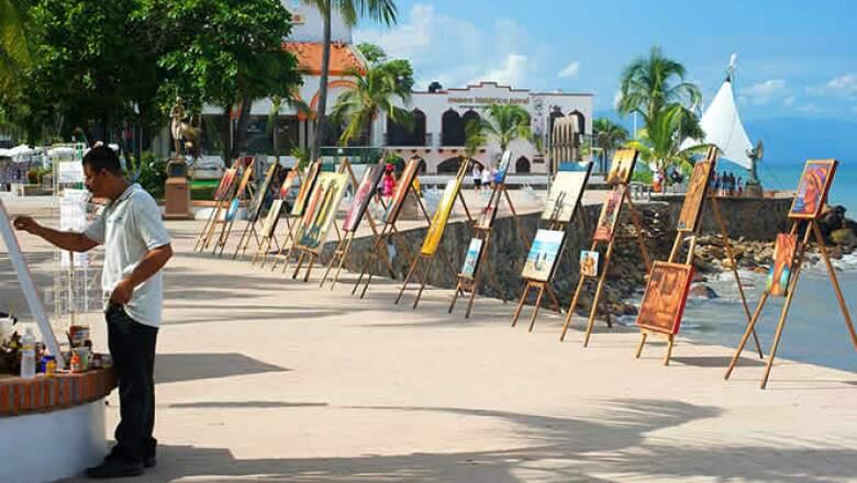 Parte del aire artístico que se respira en todo el centro de Puerto Vallarta.