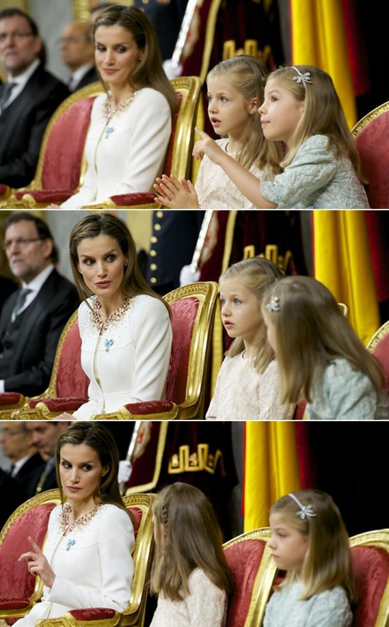 Sólo tienen ocho y siete años, pero estas pequeñas tenían que comportarse a la altura en el día de proclamación de su padre como rey de España. ¿Qué calificación obtuvieron?