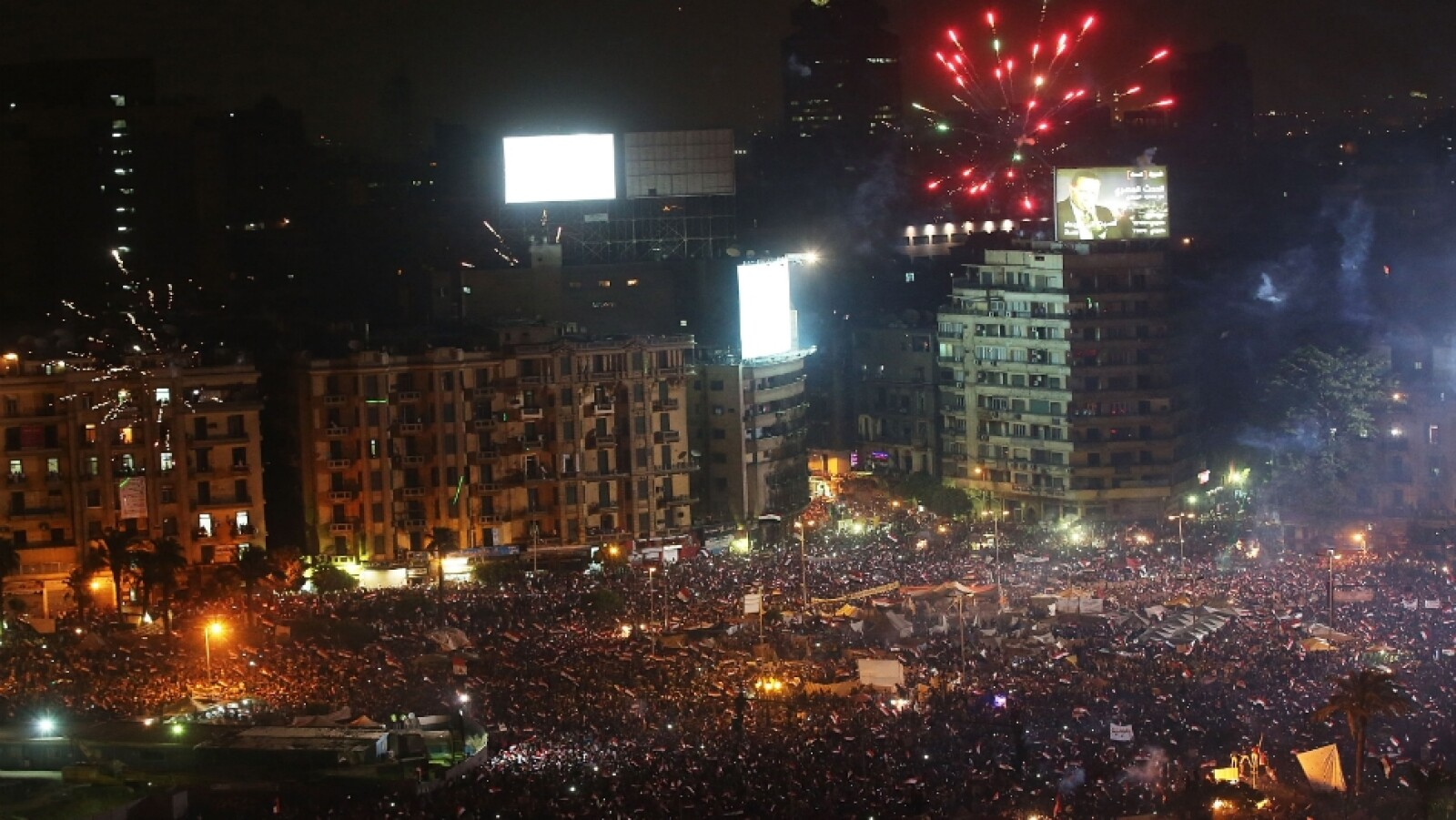 tahrir square celebrations morsi coup getty