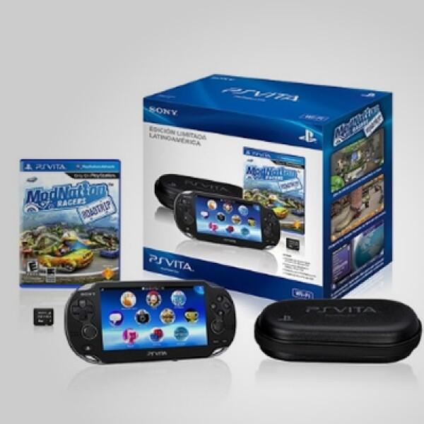 La firma comercializa un paquete para América Latina que contiene la consola en su versión Wi-Fi, el juego de Mod Nation Racers, una tarjeta de memoria de 4GB y un estuche rígido.