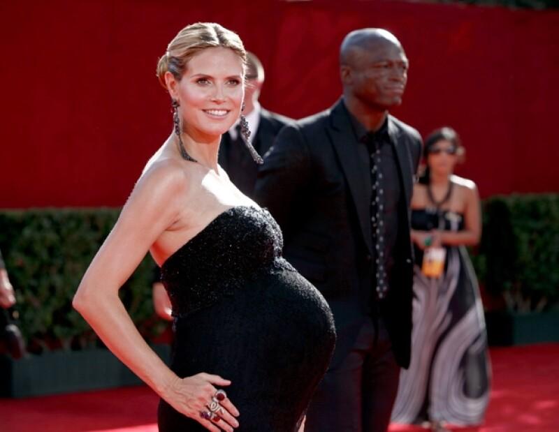 Heidi lució siempre muy bella en cada uno de sus embarazos.