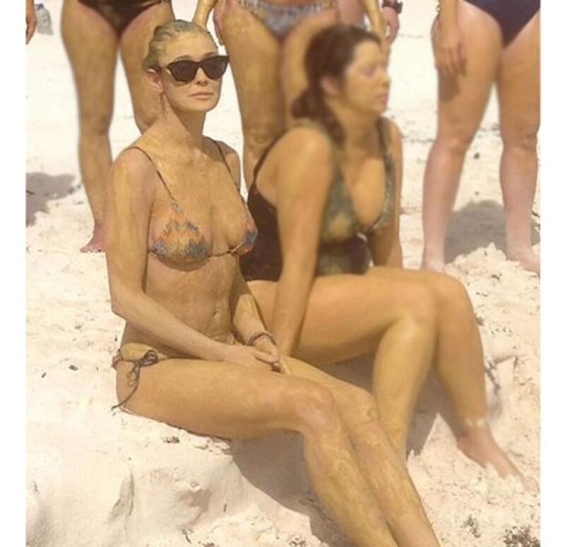 Luego de anunciar formalmente su divorcio con Ashton Kutcher en noviembre de 2012, la actriz se ha dedicado a rehacer su vida, y qué mejor lugar que la Riviera Maya para purificarse.